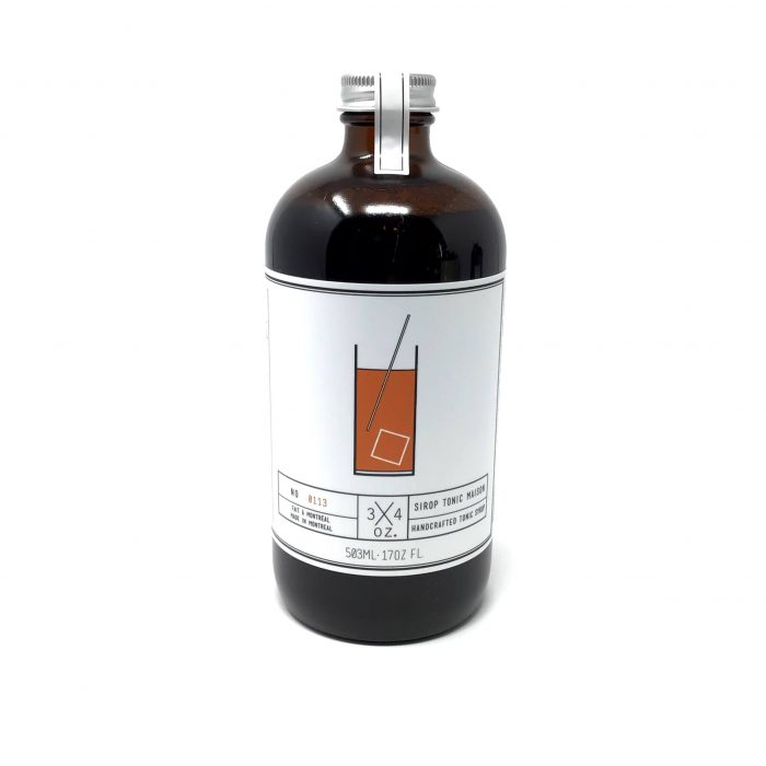 3/4oz Sirop Tonic Maison 503ml